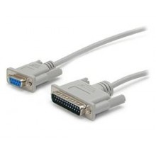 1.5m DB25 to DB9 Serial Modem Cable - M/F