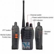 2 pcs 1 pair BAOFENG BF-888S BF888S walkie talkie handheld uhf radio