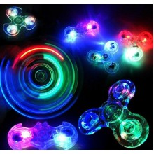 (6 Pcs) Crystal Transparent LED Light Hand Spinner Fidget Spinner