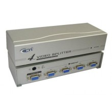 4-Port / 1 to 4 VGA Monitor Splitter With Booster ~ 250Mhz