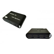 4 Port HDMI Splitter 1 In to 4 Out Support 4K x 2K , 3D  Full HD