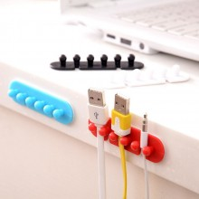 2PCS Household Office Adhesive Plastic Power Plug Holder wire
