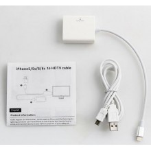 8-Pin to HDMI Adaptateur HDTV AV Cable for iPad iPhone 5 5s 6 6S