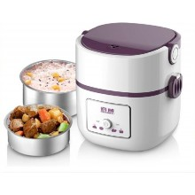 1.3L stainless/s liner double electric heating lunch box lunch warmer
