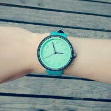 (Left Blue and Pink)Candy Jelly Colour Watch