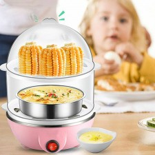 Multifunction Double-Layer Electric Food And Egg Cooker/ Boiler & Steamer