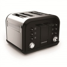 Morphy Richards 242031 Accents Black 4 Slice Toaster