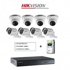 Hikvision 5MP 8 Channel CCTV With 2TB + 8 X Camera