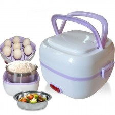 Electric Lunch Box Portable Mini Rice Cooker Food Steamer Heating Meal Lunch Box