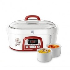 1.6L Hydropower Electric Slow Cooker White