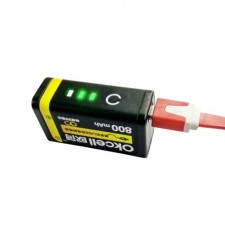 9V USB Rechargeable Battery OkCell
