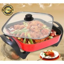Korean Style Multifunctional Steamboat Electrical Cooker Grill Square Pan
