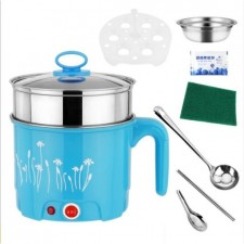 Portable Multifunctions 1.8L Mini Electric Cooking Steamboat Pot Free 7 Item