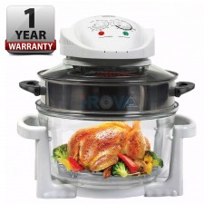 16L Convection Turbo Halogen Glass Oven W/ Stainless Steel Air Fryer Ring