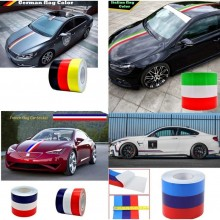 1 METER Germany Italy French Flag BMW M Striped Vinyl Car Roof Hood Body Sticker