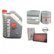 Nissan Fully Synthetic 5W30 Engine Oil 4L SN + TC Oil Filter + TC Air Filter