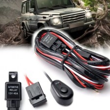 Car Driving Fog Light Lamp Wiring LED Work Light Cable Wire 40A 12V Wire Kit