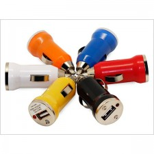 Vehicle Travel USB IN Car Charger Adapter In Bullet Shape