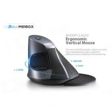 DELUX M618 2.4GHz Wireless Vertical Laser Mouse Ergonomic