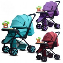 2 Way Parent Baby Newborn Baby Lightweight Baby Stroller