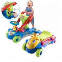 3 IN 1 My 1st Steps Push And Ride Baby Walker Ride On Car Toy Blue
