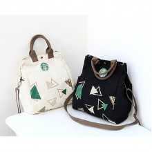 2 in 1 Canvas Shoulder Beg Tote Casual Handbag Bucket A4 Bag