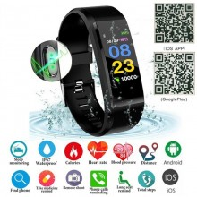 ID115 Plus Smart Bracelet Bluetooth 4.0 Fitness Tracker Pedometer