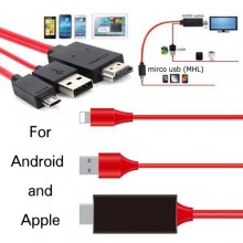 Apple to HDMI Micro USB iPhone Lightning Mirror HDTV Cable