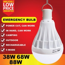 38W 68W 88W USB Emergency Rechargeable Led Light Bulb 5 Modes Outdoor Emergency
