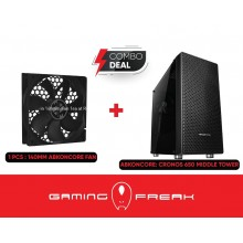 ABKO NCore CRONOS 650 PREMIUM MIDDLE TOWER TUNING CASE WITH 1 BUILT FAN GAMING CHASSIS PC CPU DESKTOP