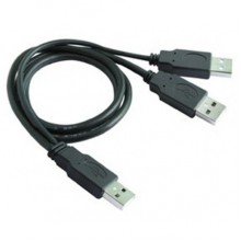 1.2M High Speed USB 2.0 External Harddisk Cable AM to 2AM