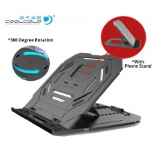 360 Rotatable Laptop Stand Adjustable Height with Phone Stand Tablet Ergonomic Portable Foldable Notebook