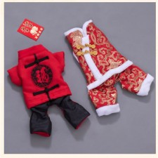 Chinese New Year Dog Vest Cat Neteye Cotton Clothes Pet Wear Appliances Shirt Small Puppy Coat Good Quality