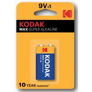 KODAK MAX Super Alkaline 9V Battery (1Pack)