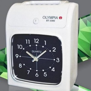 Olympia ET-3300 – Large Analogue clock face Electronic Time Recorder