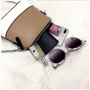 Trendy Saffiano Effect Mini Leather Handbag