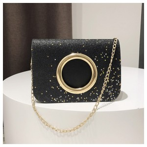 Korean Design Glitter Gold Chain Mini Sling Bag