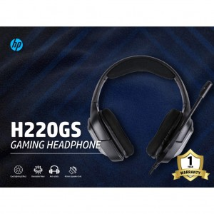 HP H220GS USB 7.1 BACKLIT GAMING HEADHONE WITH MIC HEADSET SURROUND SOUND GAMER CHOICE VOLUME CONTROL