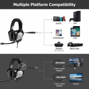 HP H220S GAMING HEADPHONE WITH MIC HEADSET 1*3.5M JACK STEREO SOUND WIRED CONTROL