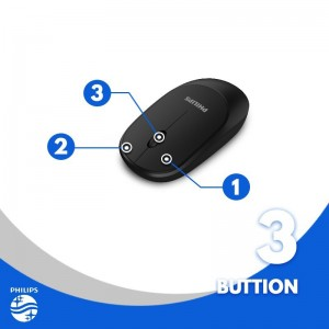 Philips M314 3 BUTTONS Silent Wireless Optical Mouse (SPK7314) For Desktop / Laptop