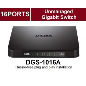 D-LINK Dlink 16 Port Gigabit Desktop Switch DGS-1016A 1000Mbps
