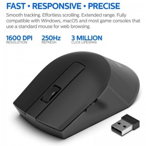 PHILIPS SPK 7374 2.4G WIRELESS MOUSE DPI 800/1200/1600