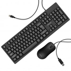 Philips C214 Wired Keyboard + mouse - USB Combo ( SPT6214 )
