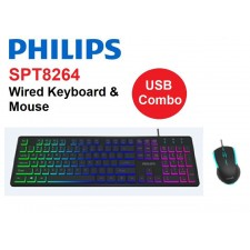 PHILIPS SPT8264 - WIRED USB KEYBOARD & MOUSE COMBO SET