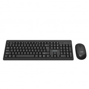 Philips C324 - Wireless USB Keyboard Mouse combo SPT6324 3 buttons 2.4GHz Wireless Optical Sensor