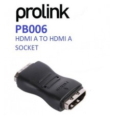 PROLINK PB006 BLACK HDMI A TO HDMI A SOCKET COUPLER CONVERTER ADAPTER (EXTENSION)