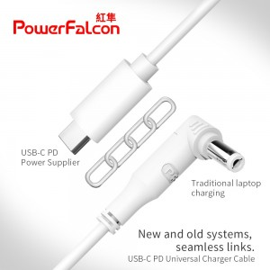 Power Falcon USB-C/PD Universal Charging Cable + 9 Tips
