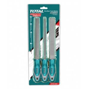 TOTAL HEAVY DUTY WOOD FILE SET - 3PCS (MADE IN TAIWAN) (STANLEY / TOPTUL / KING TOYO)