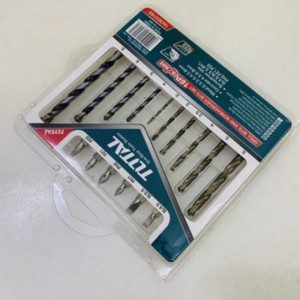 TOTAL HEAVY DUTY DRILL BIT AND SCREWDRIVER BIT SET - 16PCS