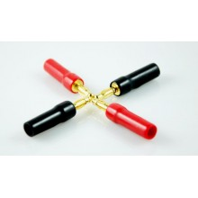 GOLD PLATED SPEAKER CABLE BANANA PLUG - 1pc